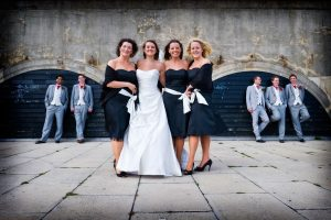 wedding video bride and bridesmaids kent